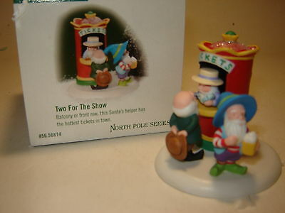 Dept 56 North Pole Accessory - Two For The Show - NIB