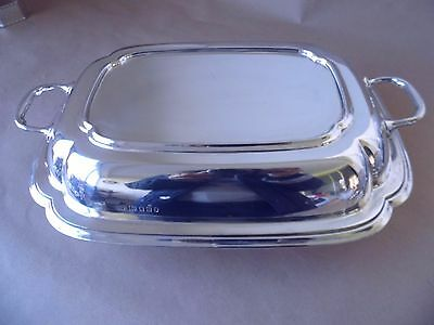 Heavy Art Deco Sterling Silver Entree Dish London 1935