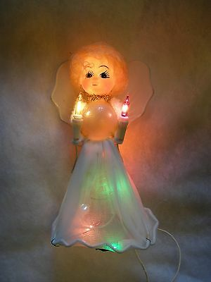 Vintage Christmas  Lights - Mini-Light Angel Tree Topper