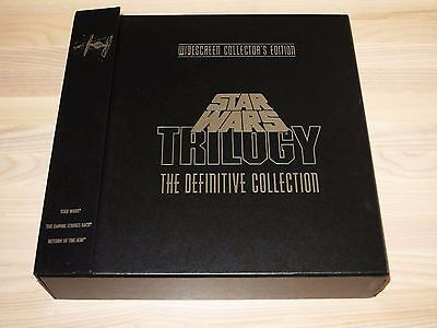 The Star Wars Trilogy Laserdisc Ld 9 Disc Box - The Definitive Collection Mint