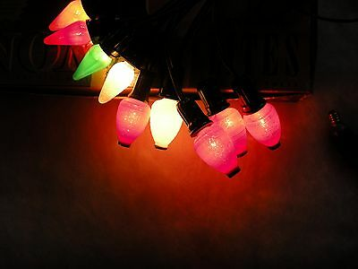 Vintage Christmas  Lights - 5 Working C6 Japanese Lanterns
