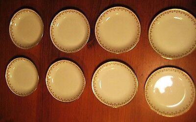 VINTAGE LIMOGES ELITE WORKS 8 SMALL BOWLS BAWO & DOTTER SHAMROCKS & ROSES c1920s