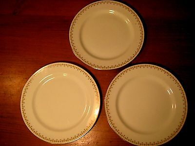 VINTAGE LIMOGES ELITE WORKS 3 DINNER PLATES BAWO/DOTTER SHAMROCKS & ROSES c1920s
