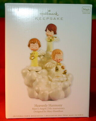 HALLMARK  2012 HEAVENLY HARMONY MARY'S ANGELS 25th ANNIVERSARY TABLE TOPPER