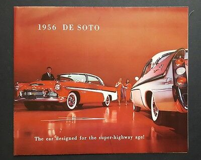 1956 Desoto Car Dealership Sales Brochure Fireflite and Firedome Series