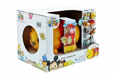 NEW Disney Tsum Tsum Winnie Pooh  Stack N Display Set Carrying Case 16 Pieces