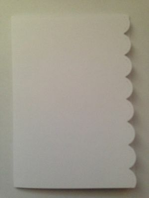 5 Blank A6 White Scallop Edge Cards and C6 Envelopes - All Occasions