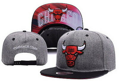 Chicago Bulls SnapBack Cap Hat Headwear Grey