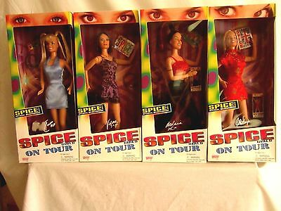 4 SPICE GIRLS -  ON TOUR DOLLS -  new and sealed (BH)