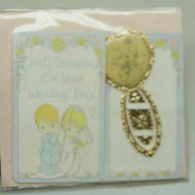 """$5 Sale: Precious Moments BookMark """"Just Because It's Your Wedding day"""" (b22)"""