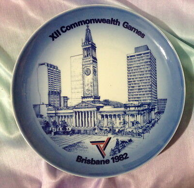 ♡  Boxed Brisbane 1982 Commonwealth Games Wall Plate B&g Denmark