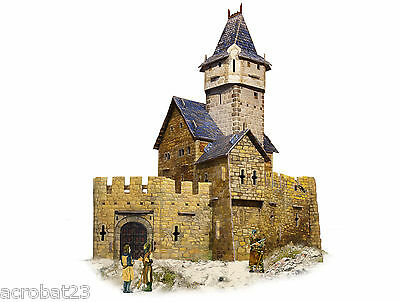 Building HUNTING CASTLE War Games Terrain Landscape Scenery Middle Ages 25-28mm.