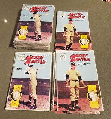 Magnum Comics MICKEY MANTLE Comic Book # 1 & 2 1991 LOT x 45 Some Sealed Bagged