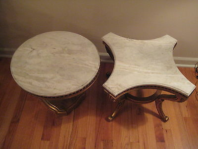 Vintage Set Of Two Marble Top Low Tables Furniture Home Decor