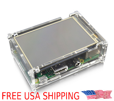 "Raspberry Pi 3.5"" Touchscreen LCD Touch Screen Monitor w/ Stylus + Acrylic Case"