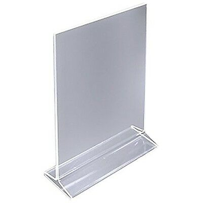 Dazzling Displays Table Card Display/Plastic Upright Menu Ad Frame/Acrylic Sign