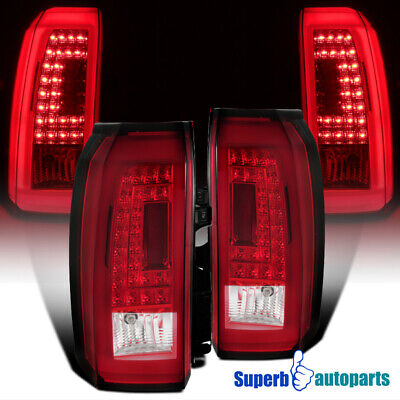 2015-2018 Tahoe Suburban LED Rear Tail Lights Brake Stop Lamps Red Replacement