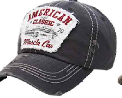 American Muscle Car Vinage Baseball Hat  Grey NEW