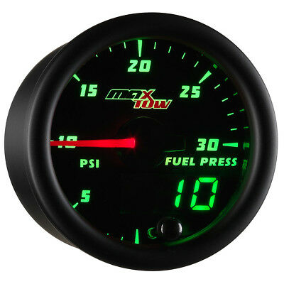 52mm MAXTOW 30PSI FUEL PRESSURE PRESS GAUGE w SENSOR for CUMMINS 12V 24V 5.9L