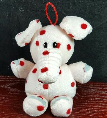 Rudolph Island of Misfit Toy Spotted Elephant Plush Bean Ornament Christmas 2000