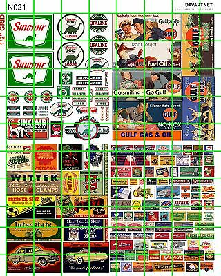 N021 Dave's Decals N Scale Decals Sinclair Gas/oil Auto Advertising Small Signs