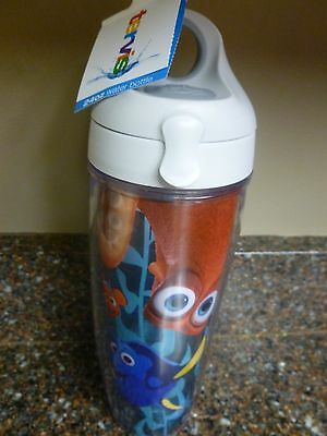 Disney Finding Dory 24 oz Tervis Water Bottle Clear Turquoise Snap Lid Hank Nemo