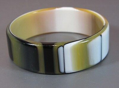 Vintage Lucite Bangle the Best co in ri Plastic Laminated Bracelet Layered 60's