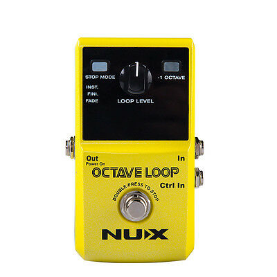 NUX Octave Loop Looper Pedal Guitar Effect with -1 Octave Effect 3 Stop Modes