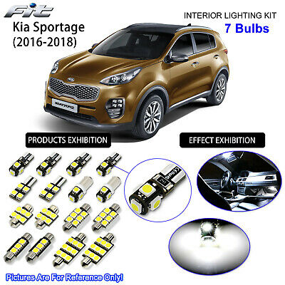 7 Bulbs LED Interior Light Kit Xenon White Lamps For Kia Sportage (QL 2016-2017)