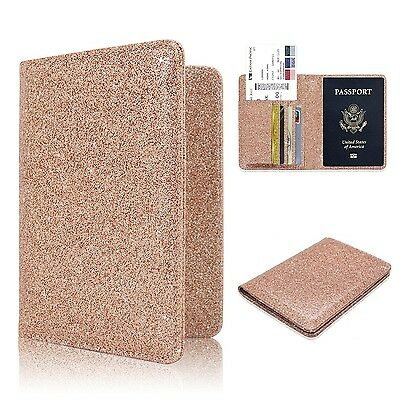 Passport Holder Case ACdream Protective Premium Leather RFID Blocking Wallet