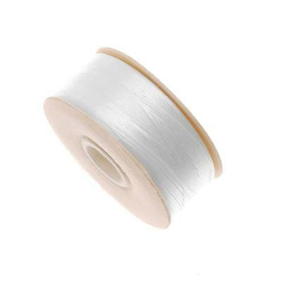 "Nymo Nylon Beading Thread Sz B For Delicas ""White"" 72Yd"