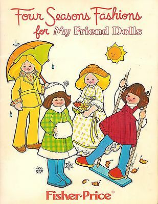 1978 Fisher-Price Four Seasons Fashions for My Friend Dolls Storybook & Patterns
