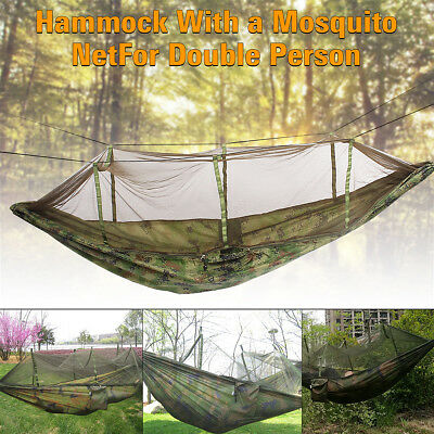 NEW Portable Double Person Hammock with Mosquito Net for Outdoor Travel Camping