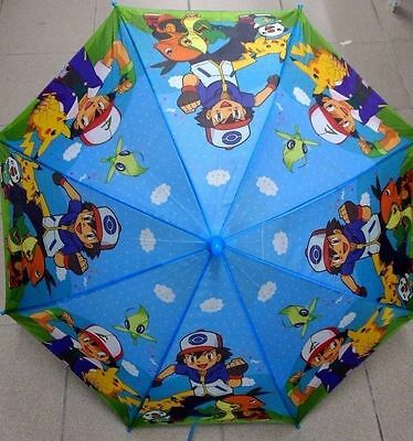 Pokemon Go pikachu Ash ketchum Umbrella Kids Umbrella +Whistle