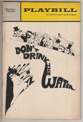 """Woody Allen  """"Don't Drink The Water""""  Playbill  1967  Tony Roberts, Kay Medford"""