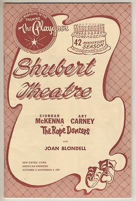 """Art Carney & Siobhan McKenna  """"The Rope Dancers""""  Tryout   Playbill  1957"""