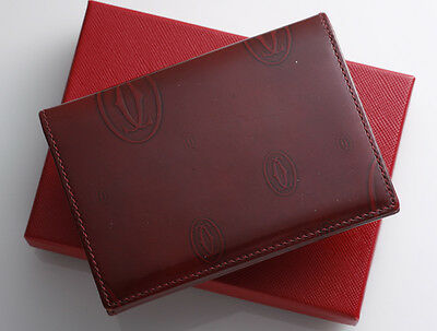 G8585M Authentic Cartier Happy Birthday Business & Credit Card Case
