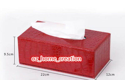 2018 gifts NEW Christmas gift  Crocodile PU Leather Red Tissue Box Home office