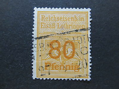 A4P50 Germany Railway Stamp used #36