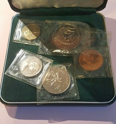 Gambia Proof 1966 Penny - 4 Shillings 6 coin set in Royal Mint Case - Sealed