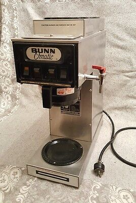 Commercial BUNN 3 burner automatic / pour over COFFEE maker Brewer refurb STF-15