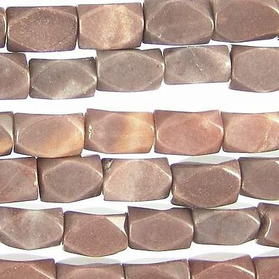 Chocolate Aventurine Beads 12mm Faceted Nugget 78988 Chunky