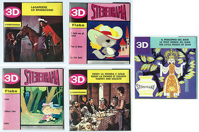 5x Techno Film Stereorama View-Master Reel Sets Made in Italy New Old Stock
