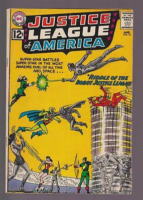 Justice League of America # 13 Riddle of the Robot JLA ! grade 4.5 scarce book !