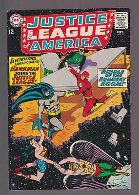 Justice League of America # 31  Hawkman Joins the JLA !  grade 6.5 scarce book !