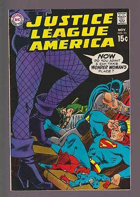 Justice League of America # 75  Black Canary Joins !  grade 7.5 scarce book !