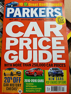 PARKERS Price Guide Magazine July 2017 Car Buyers Guide - Fast Postage!!!
