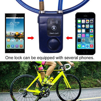 Bluetooth Smart Lock Anti Theft Alarm APP Control For Bike Bicycle Motorcycle WD