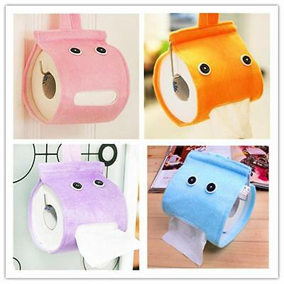 Cartoon Cloth Bathroom Paper Holder Wall Roll Mounted Box Toilet Tissue Holder M