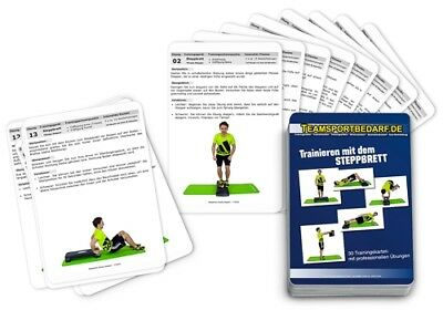 Trainingskarten - Steppbrett Stepper Aerobic Fitness Heimtrainer (30 Workouts)